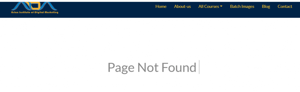 What are the broken links page not found