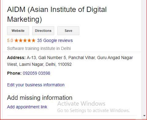 aidm google 5 star review