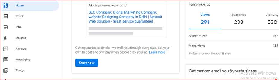 The second step for creating a Google My Business listing