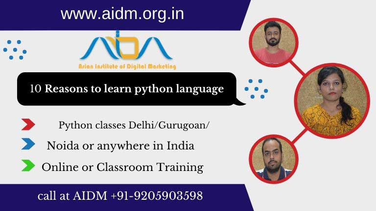 10 Reasons to learn python language