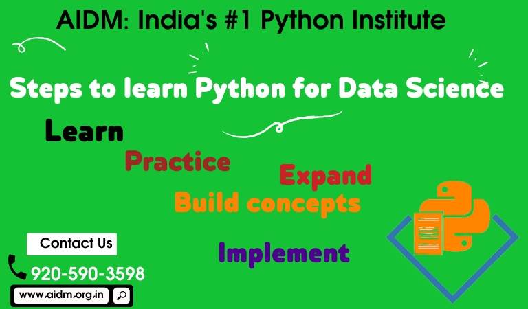 Steps to learn python for Data science