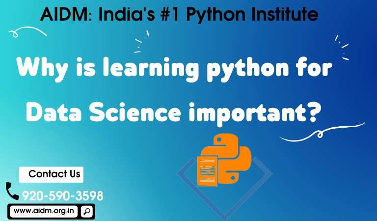 Why is learning python for Data Science important?