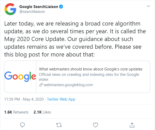 google-update-may-2020