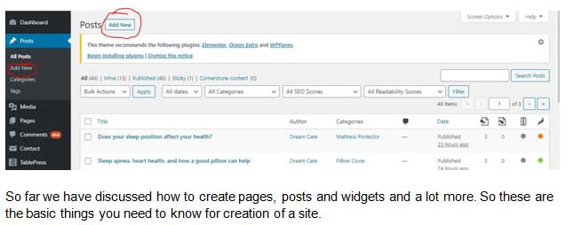 Create wordpress Post