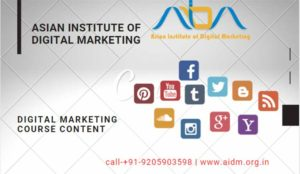 Digital Marketing Course Content – By AIDM