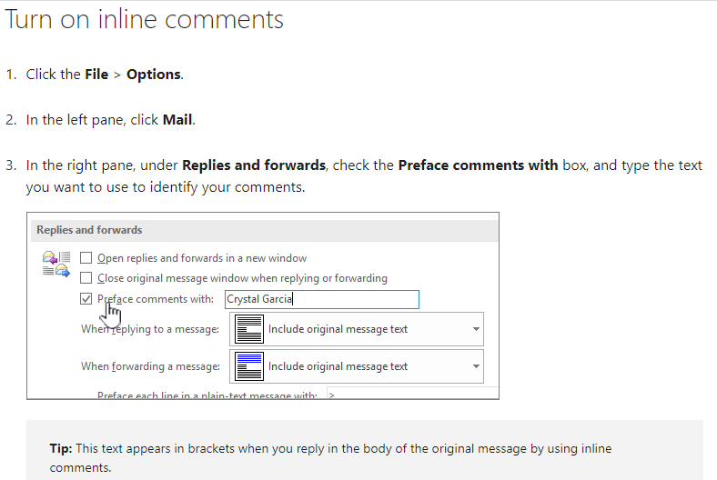 Inline comments