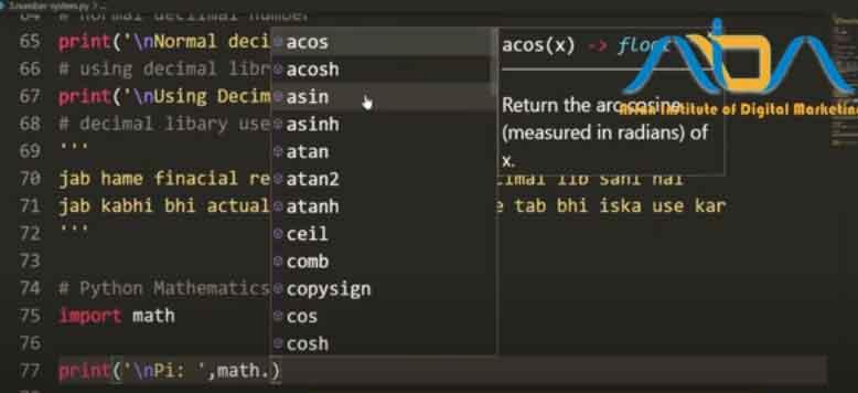 Python-Math-Library