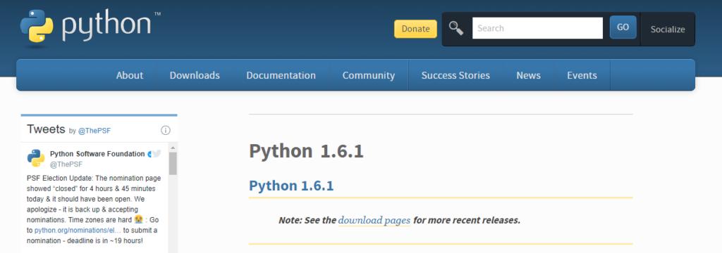 Python version 1