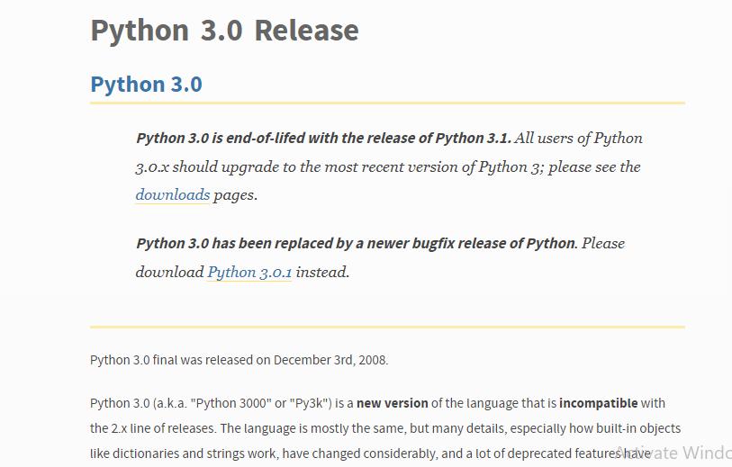 Python version 3