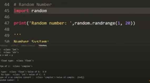 Random-nmber-for-python