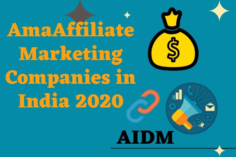 Top Affiliate Marketing Companies in India 2020