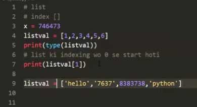 List Value-in-python