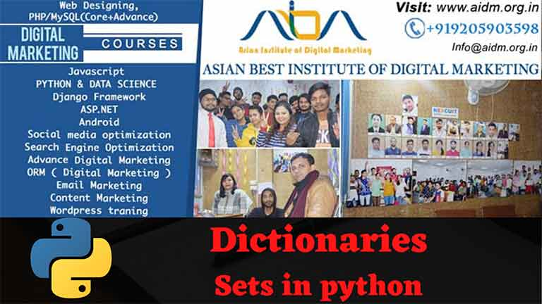 Python Sets And Dictionaries Python Lists, Python Sets & Dictionary