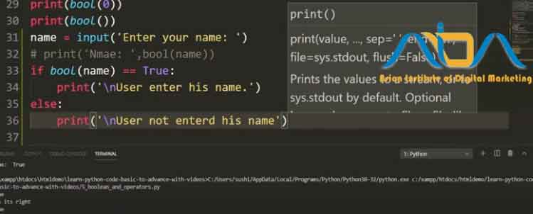 Use-of-Boolean-Datatype-in-python