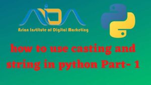 How to use casting and string in python