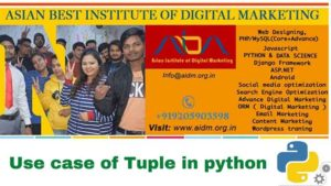 Use case of the tuple in python difference between list and tuple