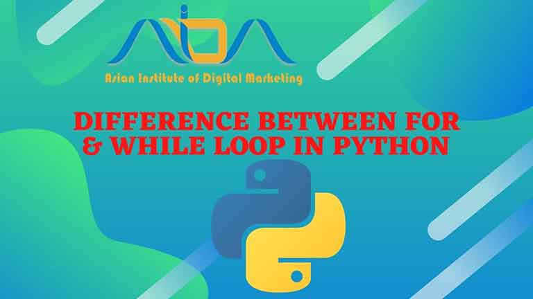 Difference between for & while loop in python