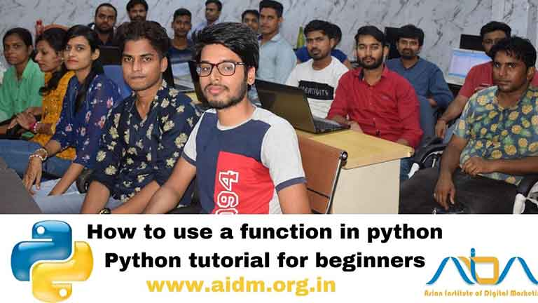 How to use a function in python | Python tutorial for beginners