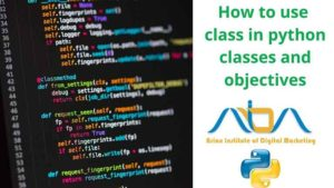 How to use class in python classes and objectives