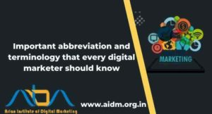 Important abbreviation and terminology that every digital marketer should know