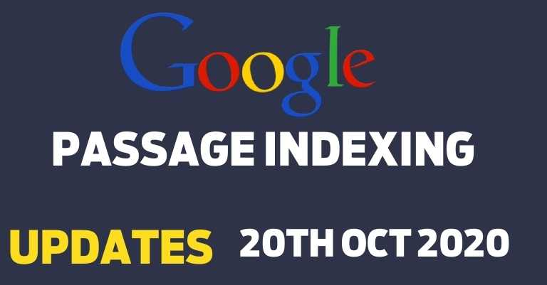 Google Passage-based indexing updates