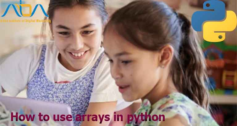 How to use arrays in python