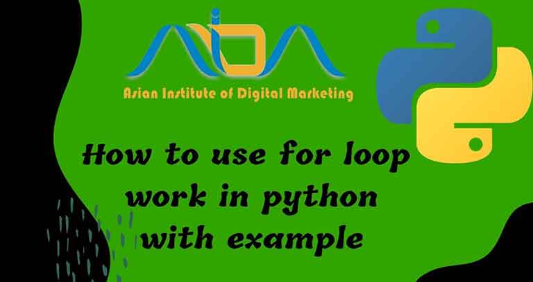 How to use for loop work in python with example