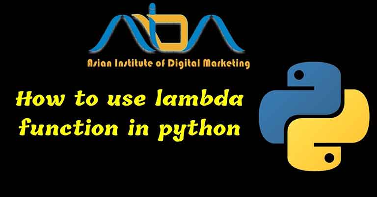 How to use lambda function in python