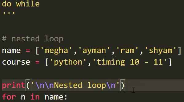 If loop in python