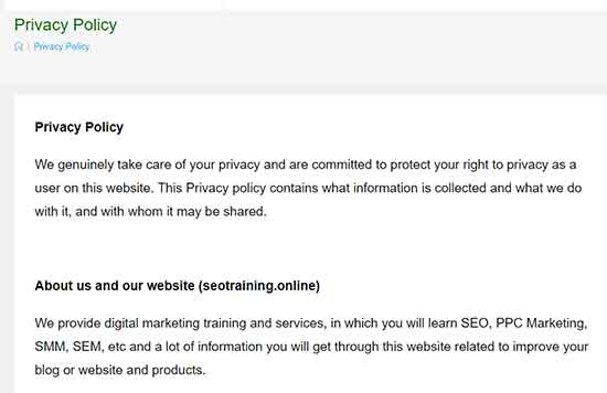 Google AdSense Privacy Policies
