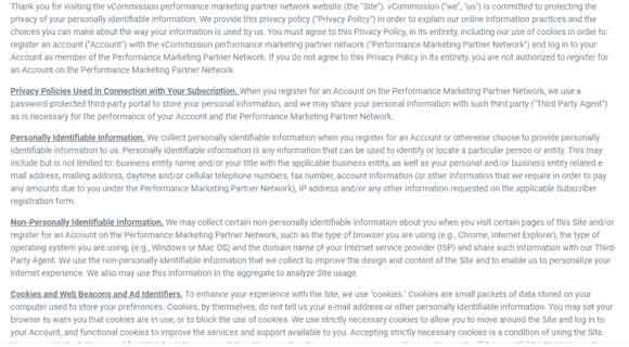 VCommission Affiliate Marketing Terminologies