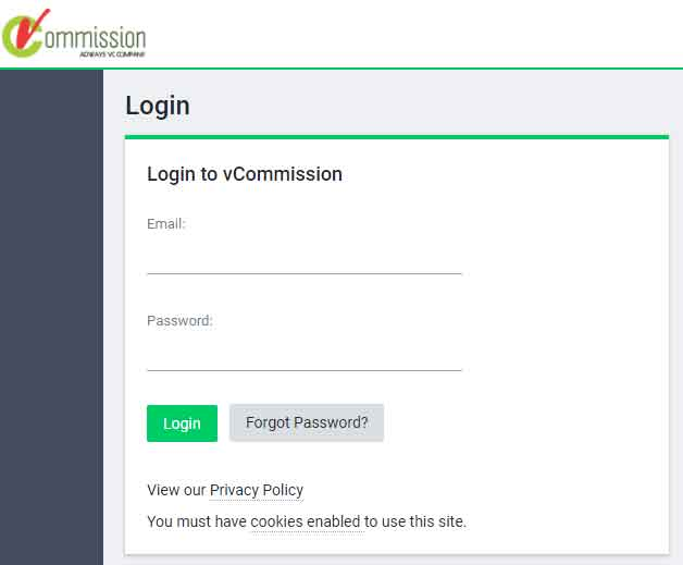 VCommission Affiliate Sign up Process