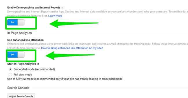 Google Analytics Property Setting