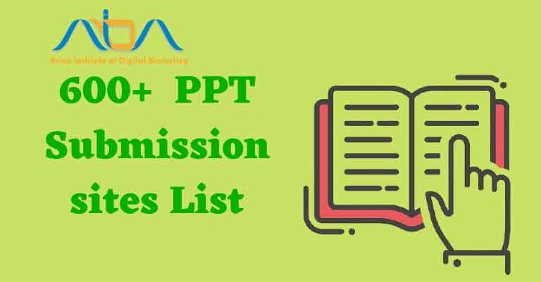 ppt submission sites list 2021