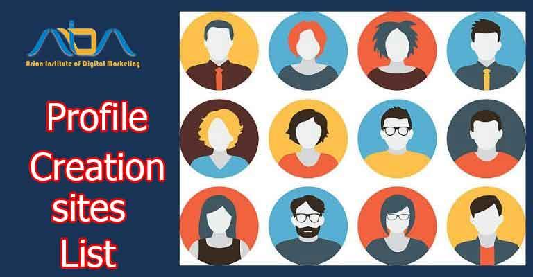 high pr profile creation sites list 2021