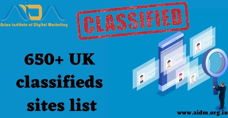 650+  UK classified sites list 2021