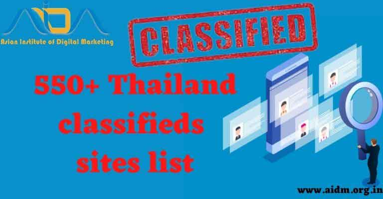 Thailand Classified ads Sites List 2021