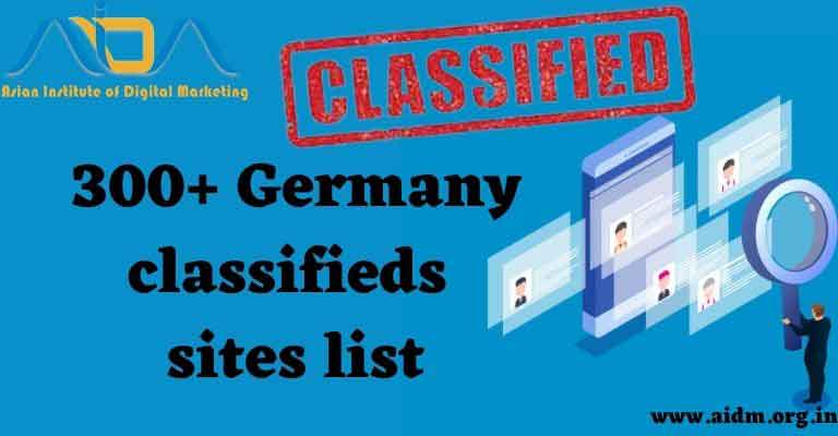 Germany classified ads submission sites list 2021