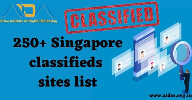 Free Advertising website Singapore classified submission sites List 2021