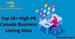 High PR Canada local business listing sites list 2021