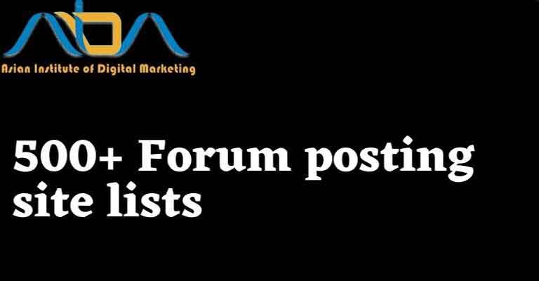 Forum posting site lists 2022